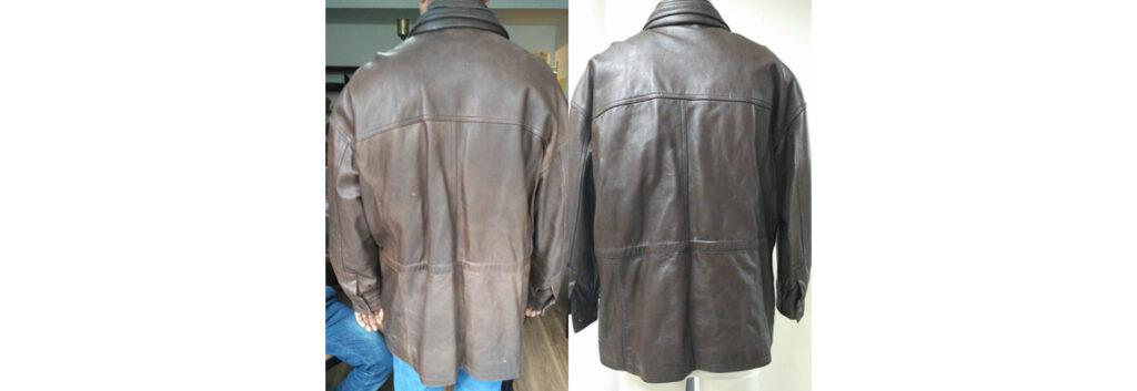 leather jacket polishing